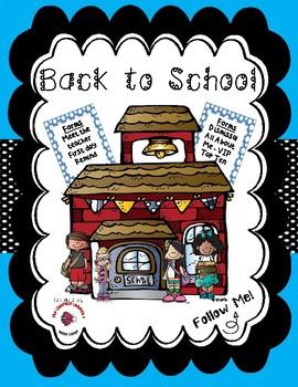Back to School / Meet the Teacher Bundle - Light Blue