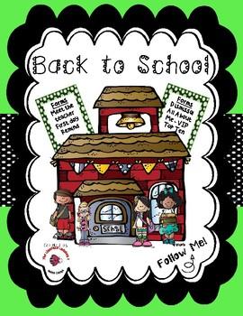 Back to School / Meet the Teacher Bundle - Lime Green