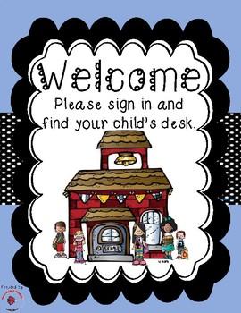 Back to School / Meet the Teacher Bundle - Periwinkle