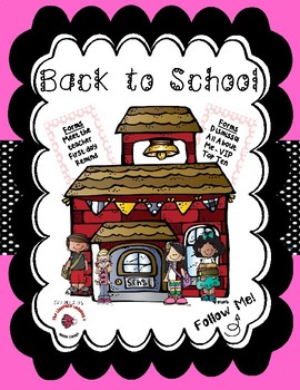 Back to School / Meet the Teacher Bundle - Pink