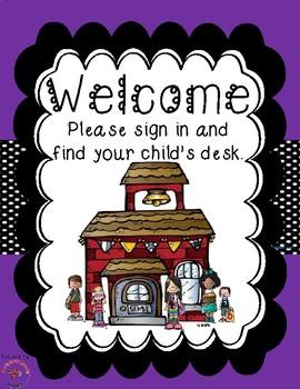 Back to School / Meet the Teacher Bundle - Purple