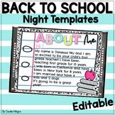 Back to School Meet the Teacher Night PowerPoint Editable