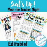 Back to School Meet the Teacher Editable   Beach Classroom Decor