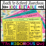 Back to School Meet the Teacher Editable Brochure