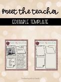 Back to School Meet the Teacher Editable Template