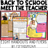 Digital and Editable Back to School and Meet the Teacher Handouts