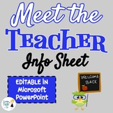 Back to School Meet the Teacher Info Sheet - Microsoft PowerPoint