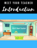 Back to School Meet the Teacher Introduction (Distance Learning)