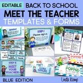 Meet the Teacher Templates Editable Back to School Forms +