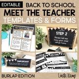 Meet the Teacher Templates, Letter, Parent Forms, Stations
