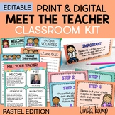 Meet the Teacher Back to School Night Parent Forms Stations Labels PASTELS