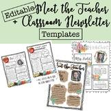 Back to School Meet the Teacher + Newsletter Templates