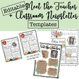 Back to School Meet the Teacher + Newsletter Templates