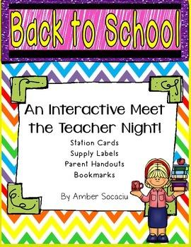 Back to School Meet the Teacher Night Activities