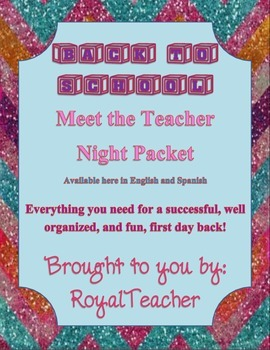 Back to School, Meet the Teacher Night, Bilingual Station Packet