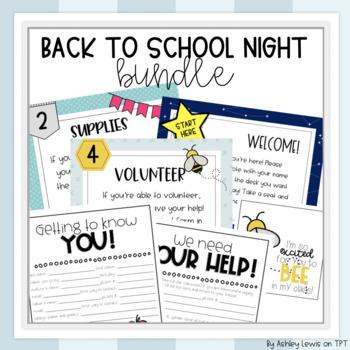 Back to School/Meet the Teacher Night Bundle