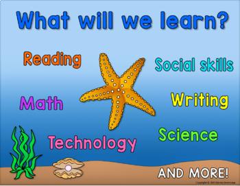 Back to School - Meet the Teacher PowerPoint - Ocean Life Theme