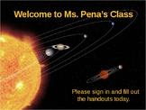 Back to School, Meet the Teacher PowerPoint Space Theme