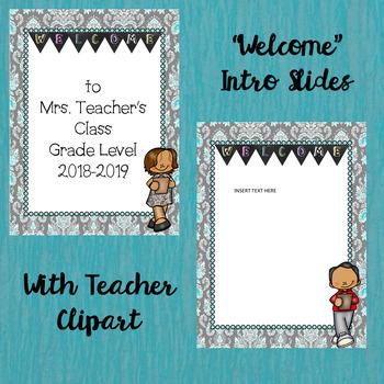 Back to School/Meet the Teacher PowerPoint w/headings and editable slides