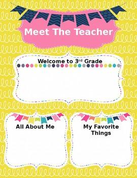 Back to School Meet the Teacher Template