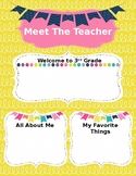 Back to School Meet the Teacher Template