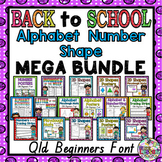 Back to School Mega Bundle QLD Beginners Font: Alphabet, Number, and Shape