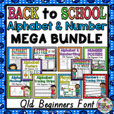 Back to School Mega Bundle QLD Beginners Font: Alphabet and Number