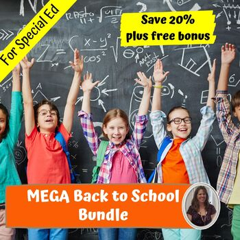 Back to School Mega Bundle for Special Education
