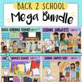 Back to School Mega Clipart Bundle With a Daily Routine, S