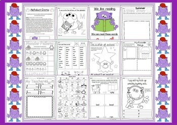 Back to School Mega Monster Fun 2 - Literacy and Math for 2nd Grade