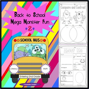 Back to School Mega Monster Fun 2 - Literacy and Math for