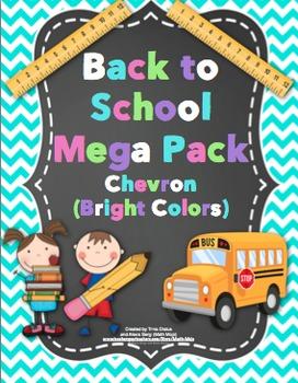 Back to School - Chevron (Bright Colors)