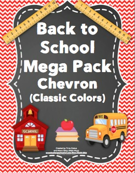 Back to School - Chevron (Classic Colors)
