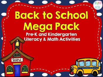 Back to School Mega Pack Pre-K and Kindergarten