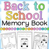 Back to School Activities Memory Book