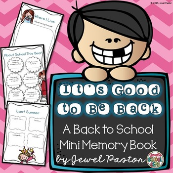 First Day of School Activities (Back to School Memory Book)