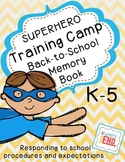 Back to School Memory Book {Superhero Training Camp}