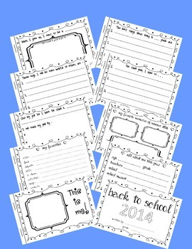 Back to School Memory Booklet