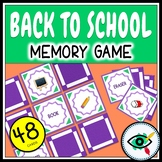 Back to School Memory Game printable