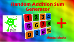 Back to School. Mental Math Random Sum Generators