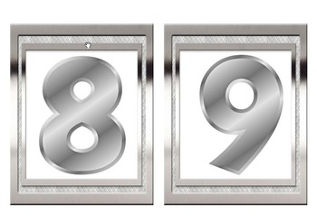 Back to School - Metalic  Silver Edition Alphabet And Numbers Pack