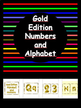 Back to School  - Metallic Gold Edition Alphabet and Numbers Pack