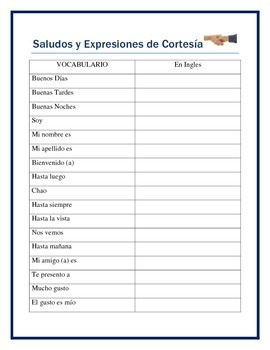 Back to School -Mi Cuaderno-Interactive Vocabulary Notebook for Spanish I