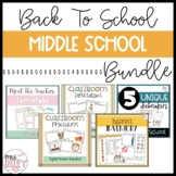 Back to School | Middle School | Bundle