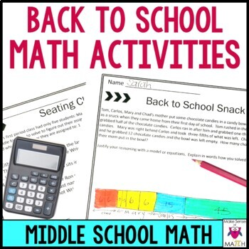 Back to School Middle School Math Activities by Make Sense of Math