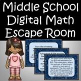 Back to School Middle School Math Revie Escape Room Activity Google Form