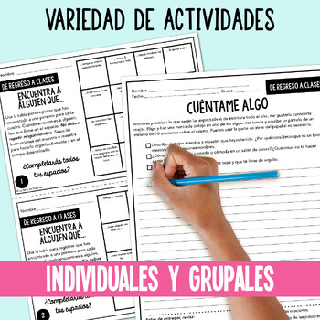 Spanish First Days of School Activities | Regreso a clases Español
