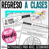 Spanish Back to School Activities | Actividades para el re
