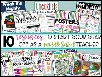 Back to School Middle School Teacher Starter Pack