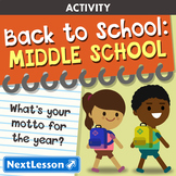 Back to School: Middle School Unit